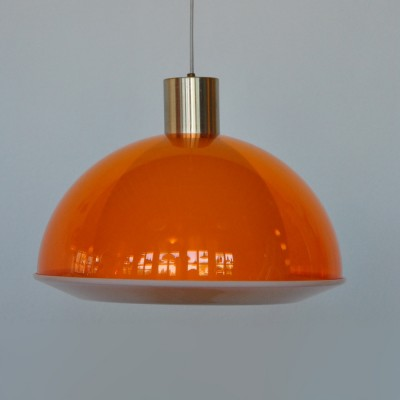 Triënnaali Kuplat hanging lamp by Yki Nummi for Stockmann Orno, 1950s