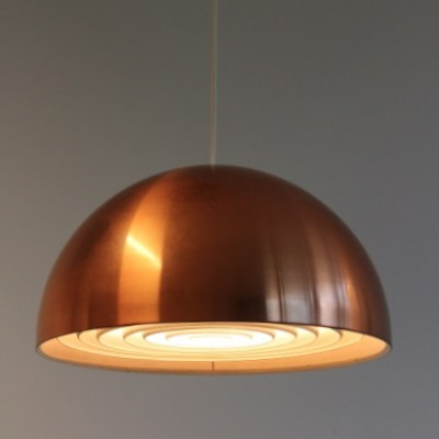 Copper Dome Hanging Lamp by Jo Hammerborg for Fog and Mørup