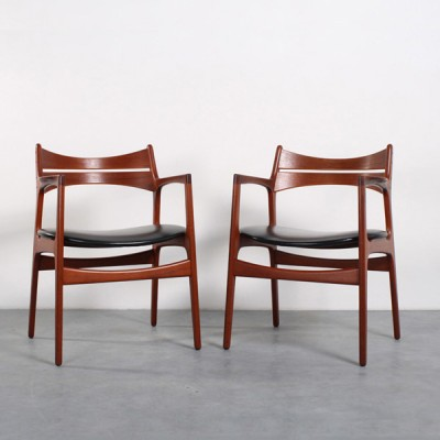 2 x dining chair by Erik Buck for ACO Møbler, 1960s