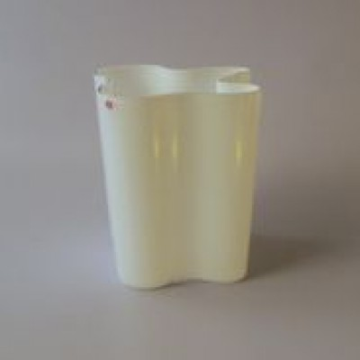 White 200mm vase from the thirties by Alvar Aalto for Iittala