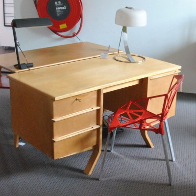 Birch series writing desk from the fifties by Cees Braakman for Pastoe