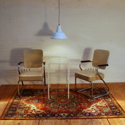 Pair of Fana Metal office chairs, 1950s