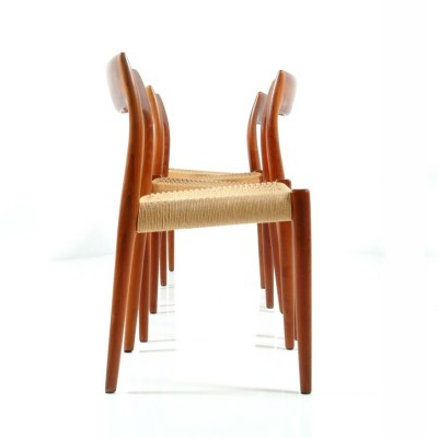 Set of 4 No. 77 dinner chairs by Niels Otto Møller for J L Møller, 1960s