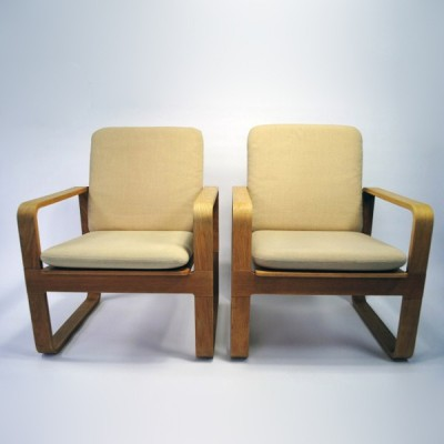Pair of Model 5131 lounge chairs by Rud Thygesen for Magnus Olesen, 1970s