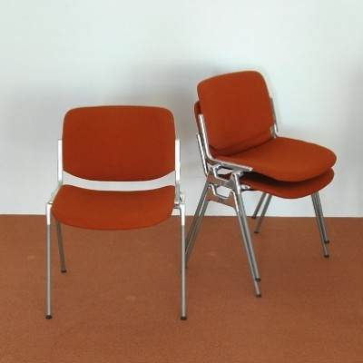 3 x DSC dinner chair by Giancarlo Piretti for Castelli, 1960s
