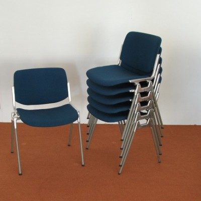 6 DSC dinner chairs from the sixties by Giancarlo Piretti for Castelli