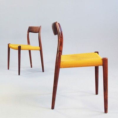 Model 77 Dinner Chair by Niels Otto Møller for J L Møller