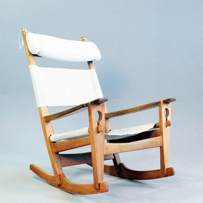 GE-673 Rocking Chair by Hans Wegner for Getama