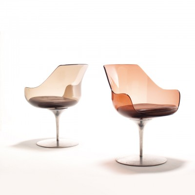 Champagne Dinner Chair by Irvine and Estelle Laverne for Formes Nouvelles