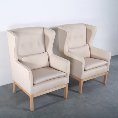 Pair of EJ25 lounge chairs by Erik Jørgensen for Erik Jørgensen Møbelfabrik, 1980s