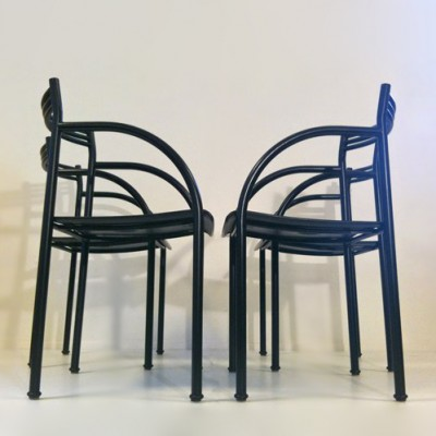 Set of 4 Francesca Spanish dining chairs by Philippe Starck for Baleri Italia, 1970s