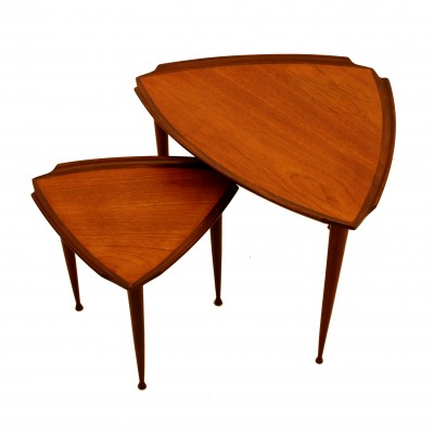Pair of side tables by Poul Jensen for Selig, 1950s