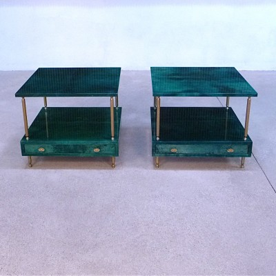 Pair of side tables by Aldo Tura for Tura, 1950s