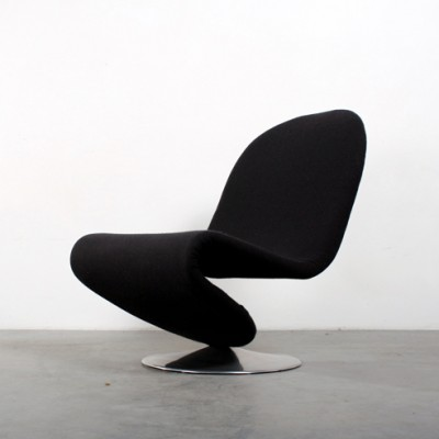 Model 123 lounge chair by Verner Panton for Fritz Hansen, 1970s