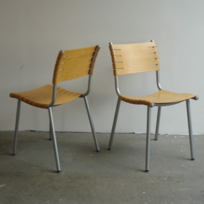 Set of 4 dinner chairs by Ruud Jan Kokke for Harvink, 1970s