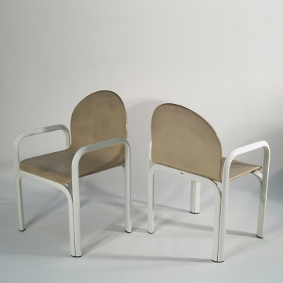 Set of 8 dinner chairs from the seventies by Gae Aulenti for Knoll