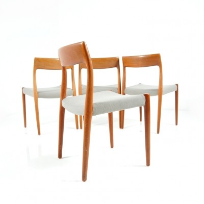 Set of 4 model 78 dinner chairs from the sixties by Niels Otto Møller for J L Møller