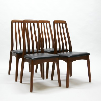Set of 4 Eva dining chairs by Niels Kofoed for Koefoeds Hornslet