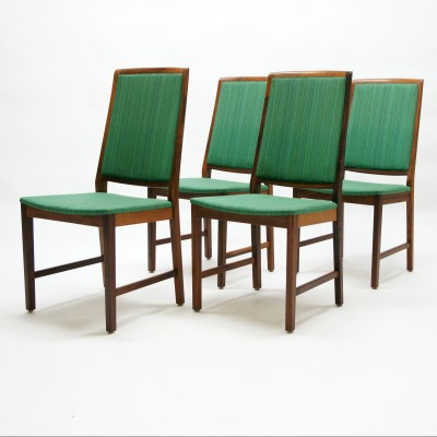 Set of 4 Skaraborgs Möbelindustri dining chairs
