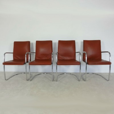 Set of 4 dining chairs by Grassi Grassi for Matteo Grassi, 1980s