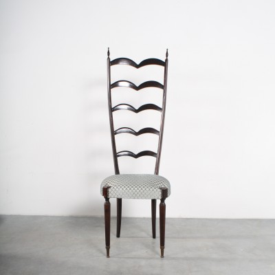 High Back dining chair by Chiavari, 1950s