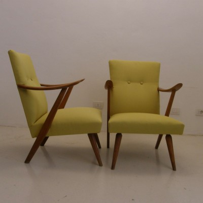 Pair of Pastoe lounge chairs, 1940s