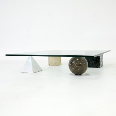 Metaphora coffee table by Massimo Vignelli for Casigliani, 1970s