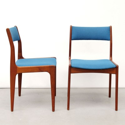 Set of 4 P. Westergaard Møbelfabrik dining chairs, 1950s