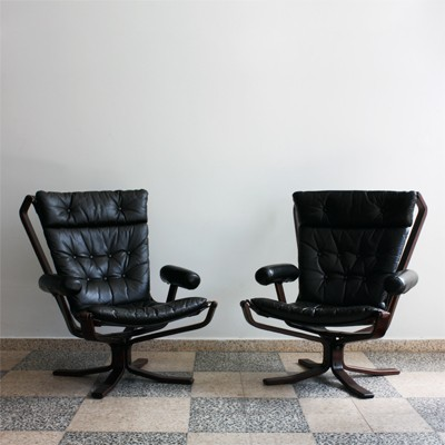 Pair of Falcon lounge chairs by Sigurd Ressell for Vatne Møbler, 1960s