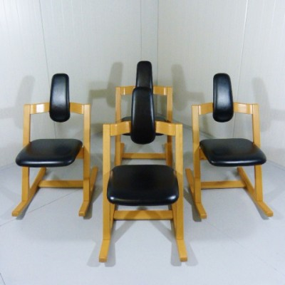 4 x Pendulum office chair by Peter Opsvik for Stokke, 1970s