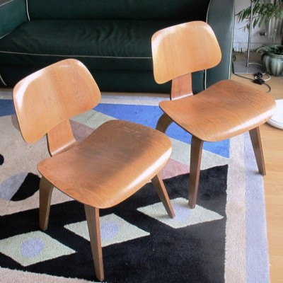 2 x DCW dining chair by Charles & Ray Eames for Herman Miller, 1950s