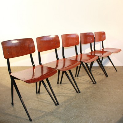 10 dinner chairs from the sixties by unknown designer for Marko Holland