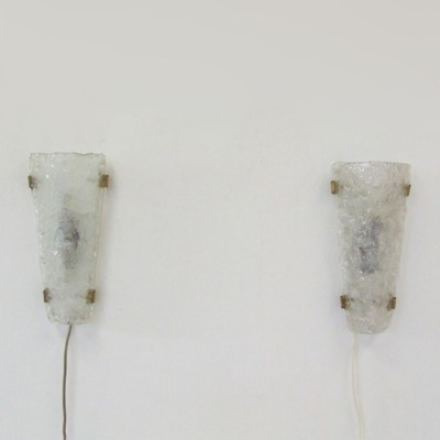 Pair of Hillebrand wall lamps, 1960s