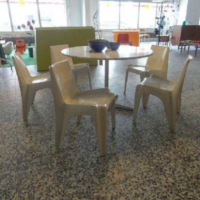 Set of 4 No BA1171 - Bofinger dinner chairs from the sixties by Helmut Bätzner for Rohé Noordwolde