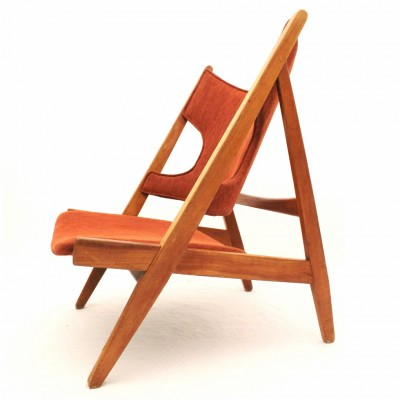 Knitting Chair (Limited Edition) lounge chair by Ib Kofod Larsen for Christensen & Larsen, 1950s