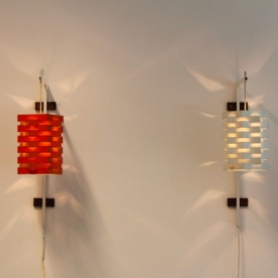 Pair of wall lamps by Niels Esmann & Hans C. Jensen for Nordisk Solar, 1960s