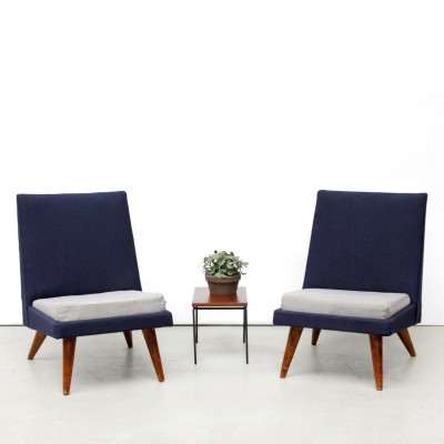 Pair of lounge chairs by Alf Nilsson for Knolls Eftr, 1940s