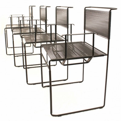 Set of 4 dining chairs by Giandomenico Belotti for Fly Line Italy, 1970s