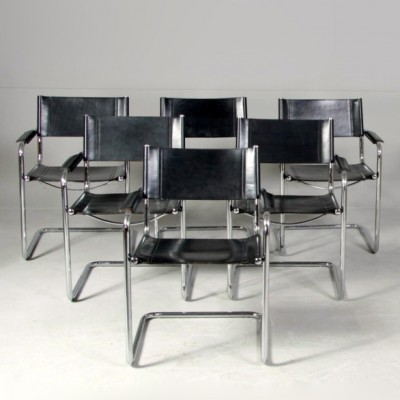 6 x MG5 dining chair by Centra Studi for Matteo Grassi, 1970s