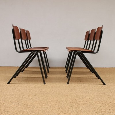 Set of 6 Eromes dining chairs, 1970s