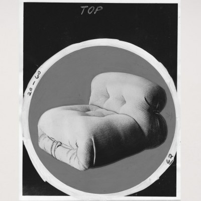 Soriana armchair art from the seventies by Tobia Scarpa for unknown producer