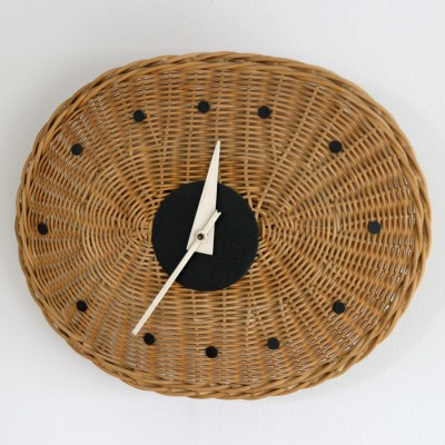 Basket Oval 2216 clock by George Nelson for Howard Miller, 1950s