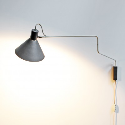 Elbow Wall Lamp by J. Hoogervorst for Anvia Almelo