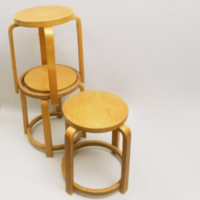 3 stools from the thirties by Alvar Aalto for unknown producer