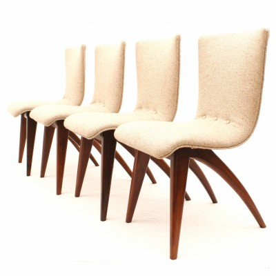 Set of 4 CJ van Os dining chairs, 1950s