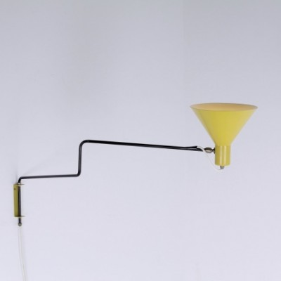 Elbow Paperclip Wall Lamp by J. Hoogervorst for Anvia Almelo