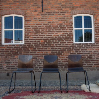 Set of 3 Flötotto dining chairs, 1960s