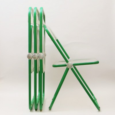 Green Plia Dinner Chair by Giancarlo Piretti for Castelli