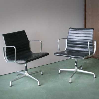 Pair of EA 108 office chairs by Charles & Ray Eames for Vitra, 1960s