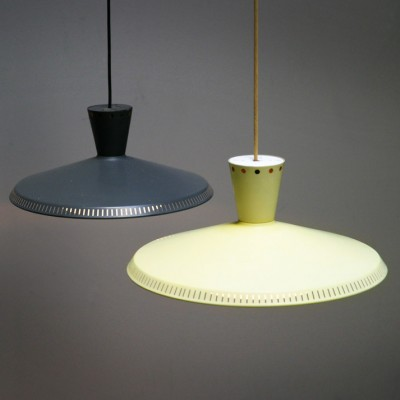 Pair of hanging lamps by Louis Kalff for Philips, 1950s